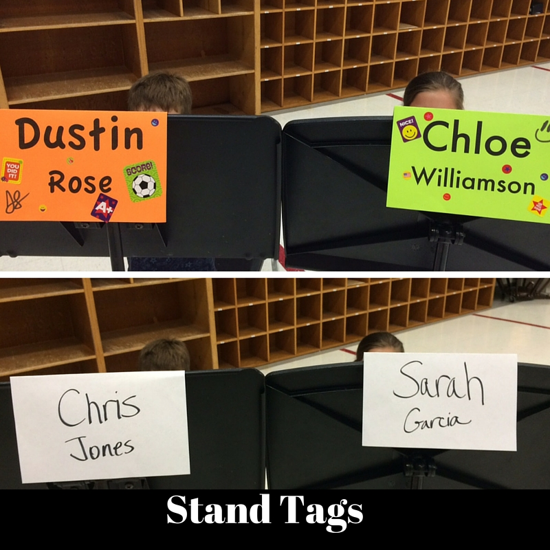 Band Stand Tags