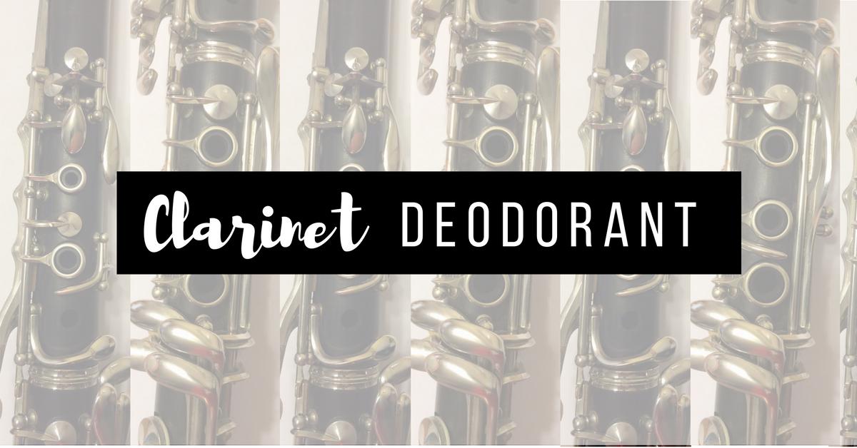 Clarinet deodorant