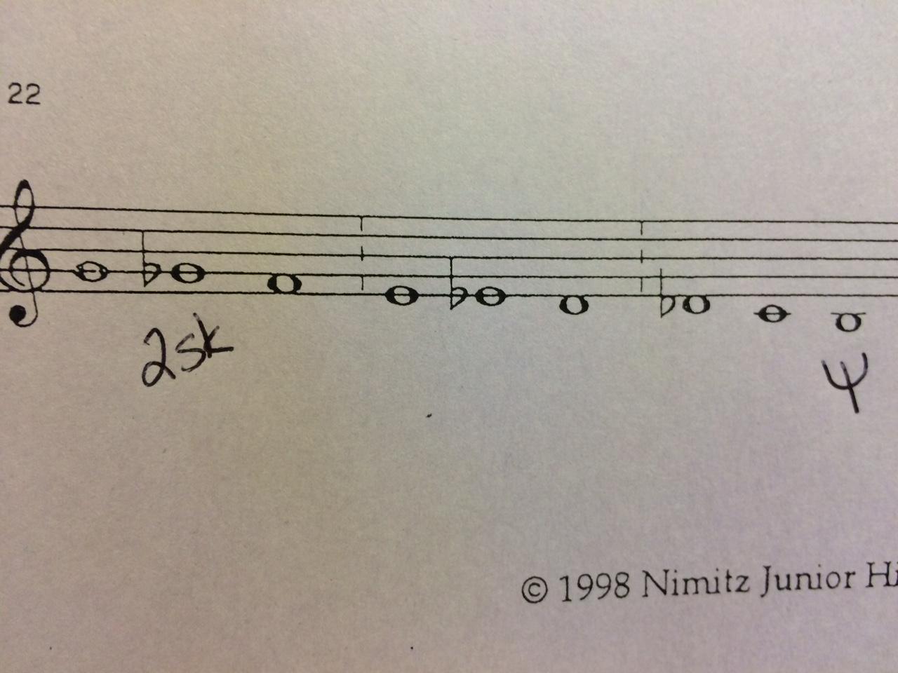 clarinet chromatic scale