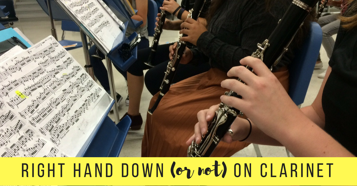 Right Hand Down (or not) on Clarinet